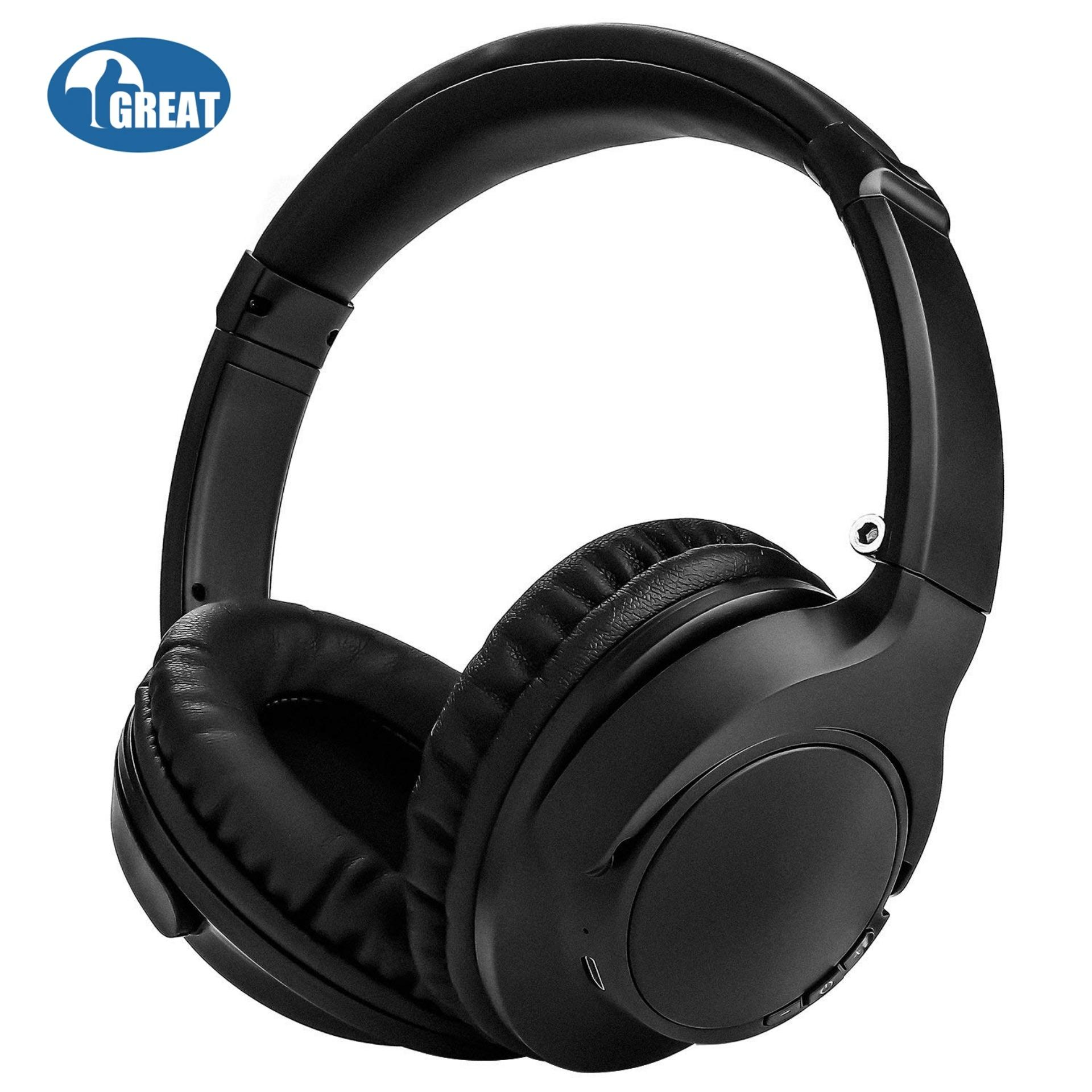 Goodgreat Bluetooth Headphones Over-Ear, Wireless Stereo Foldable Headphones Wireless And Wired Headsets With Built-In Mic, Micro Sd/tf, Fm For Iphone/samsung/ipad/pc(black) By Good&great.