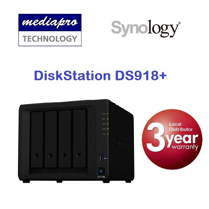 Synology DiskStation DS918+ 4-Bay NAS ( without HDD )