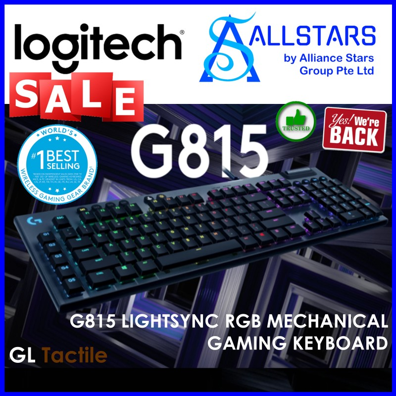 (ALLSTARS : We are Back / Gaming PROMO) Logitech G815 Mechanical Keyboard (TACTILE) (920-009222) (Warranty 2 years with Local Distributor BanLeong) Singapore