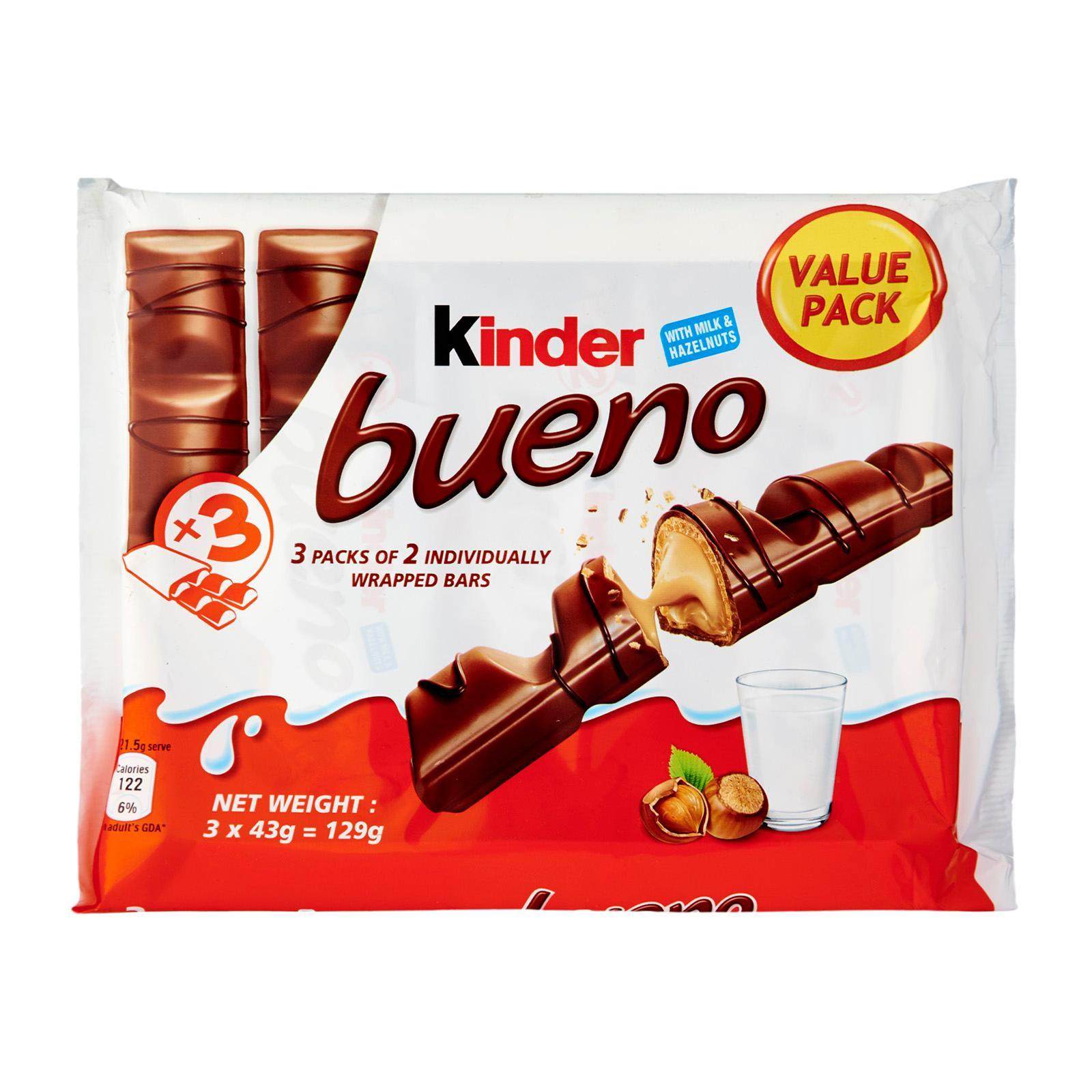 Kinder Bueno Chocolate Wafer Flow Pack