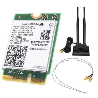 Bộ Máy Tính Để Bàn Không Dây Bluetooth 5.0 AX201NGW Wifi, Ăng Ten IPEX MHF4 U.FL, Cho NGFF M.2 CNVIo2 Dành Cho Card Mạng Intel AX201 thumbnail