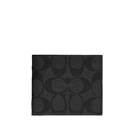 Coach Men's Double Billfold Wallet Multiple Designs Available With Coach Gift Box