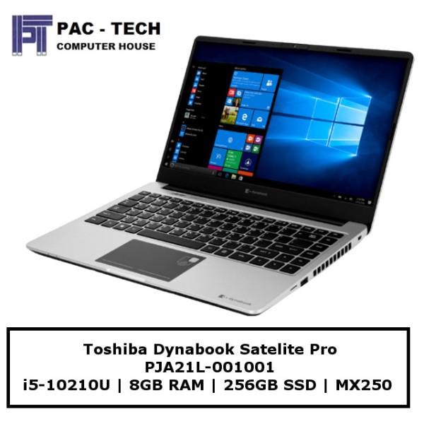 Toshiba Dynabook Satelite Pro 14 PJA21L-001001   i5-10210U   8GB   256GB SSD   MX250 2GB Dedicated Graphics   14 FHD Display   2 Year Warranty