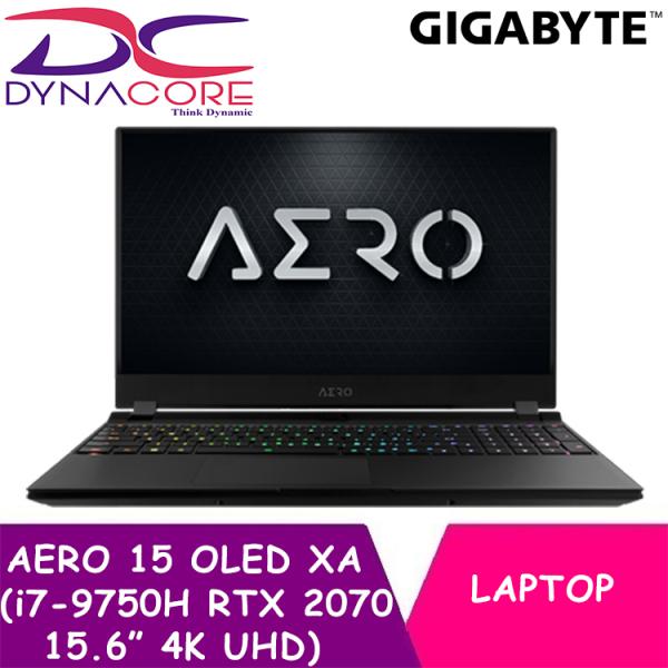 DYNACORE - GIGABYTE AERO 15 OLED XA NOTEBOOK / GAMING LAPTOP | i7-9750H | 16GB SAMSUNG DDR4 2666 8GBx2 | GeForce RTX 2070 GDDR6 8GB Max-Q | 512GB INTEL 760P PCIE SSD | 15.6 inch Thin Bezel Samsung 4K UHD AMOLED | WINDOWS 10 PROFESSIONAL