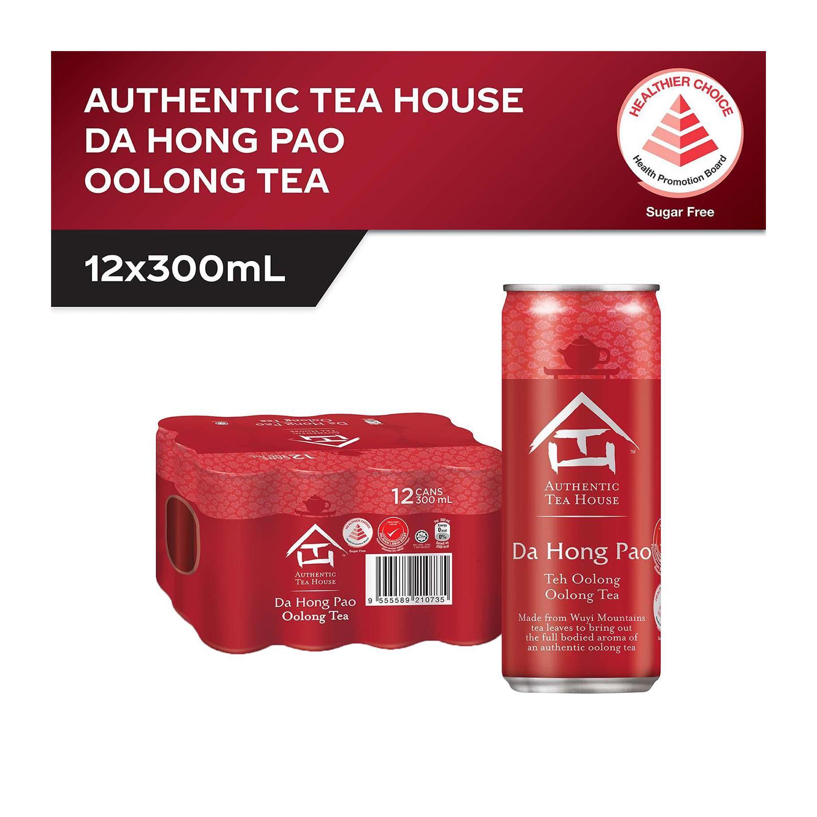 Authentic Tea House Da Hong Pao No Sugar Oolong Tea (12 x 300ml) - Case