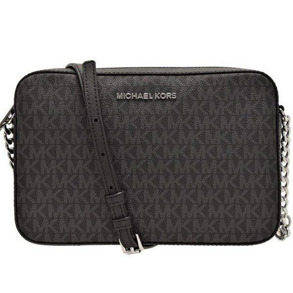 9923973f8c43 NEW ARRIVAL Michael Kors Jet Set Item Crossbody Bag Signature Black