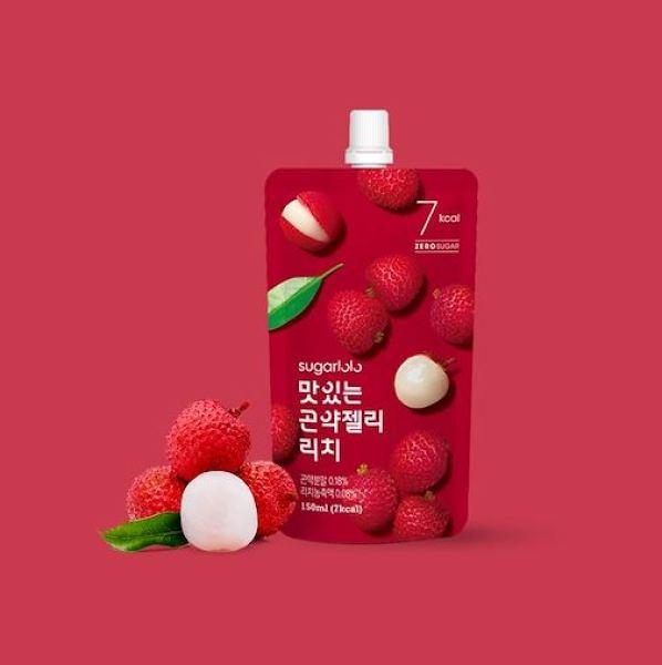 Buy Sugarlolo Konjac Lychee Jelly - 10 packs X 150ml (Diet / Zero Sugar / Low Calorie / Kfood) - Expiry Date Dec 2021 Singapore