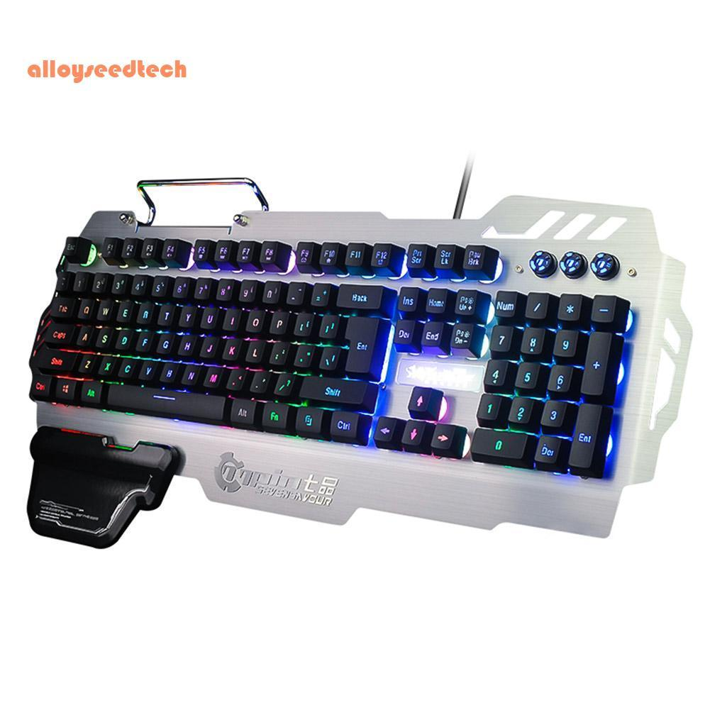 〔alloyseedtech〕PK-900 USB Wired 104 Keys Backlight Gaming Keyboard with Phone Stand Holder Singapore