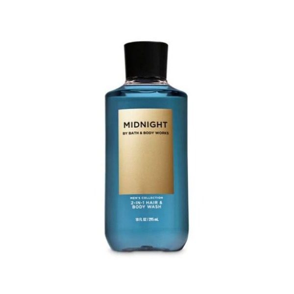 Buy Bath & Body Works : MENS COLLECTION : Midnight 2-in-1 Hair and Body Wash - 295ml - Bath and Bodyworks - BBW Singapore