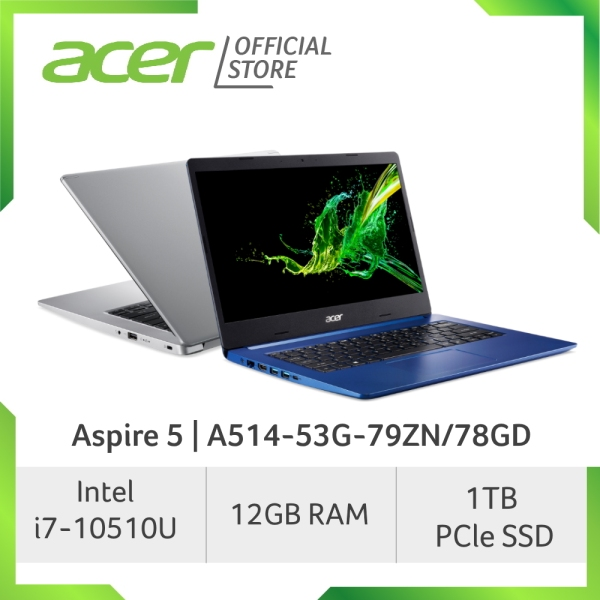 Acer Aspire 5 A514-53G-79ZN/78GD laptop with LATEST 10th gen Intel i7-1065G7 processor and 12GB RAM