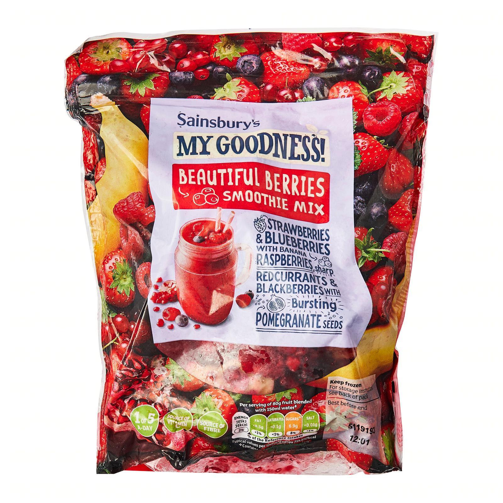 Sainsbury's My Goodness! Beautiful Berries Smoothie Fruits Mix - Frozen