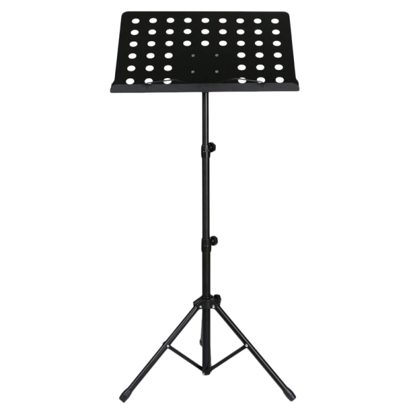 50 x 35cm Sheet Music Stand Folding Metal Music Score Tripod Stand Holder with Widened Thickened Large Panel for All Musical Instrument