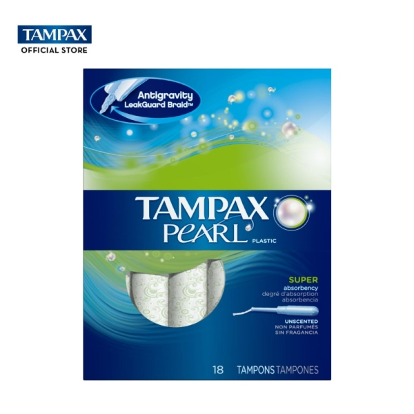 Buy Tampax Pearl Plastic Super Absorbency Unscented Tampons 18s Singapore