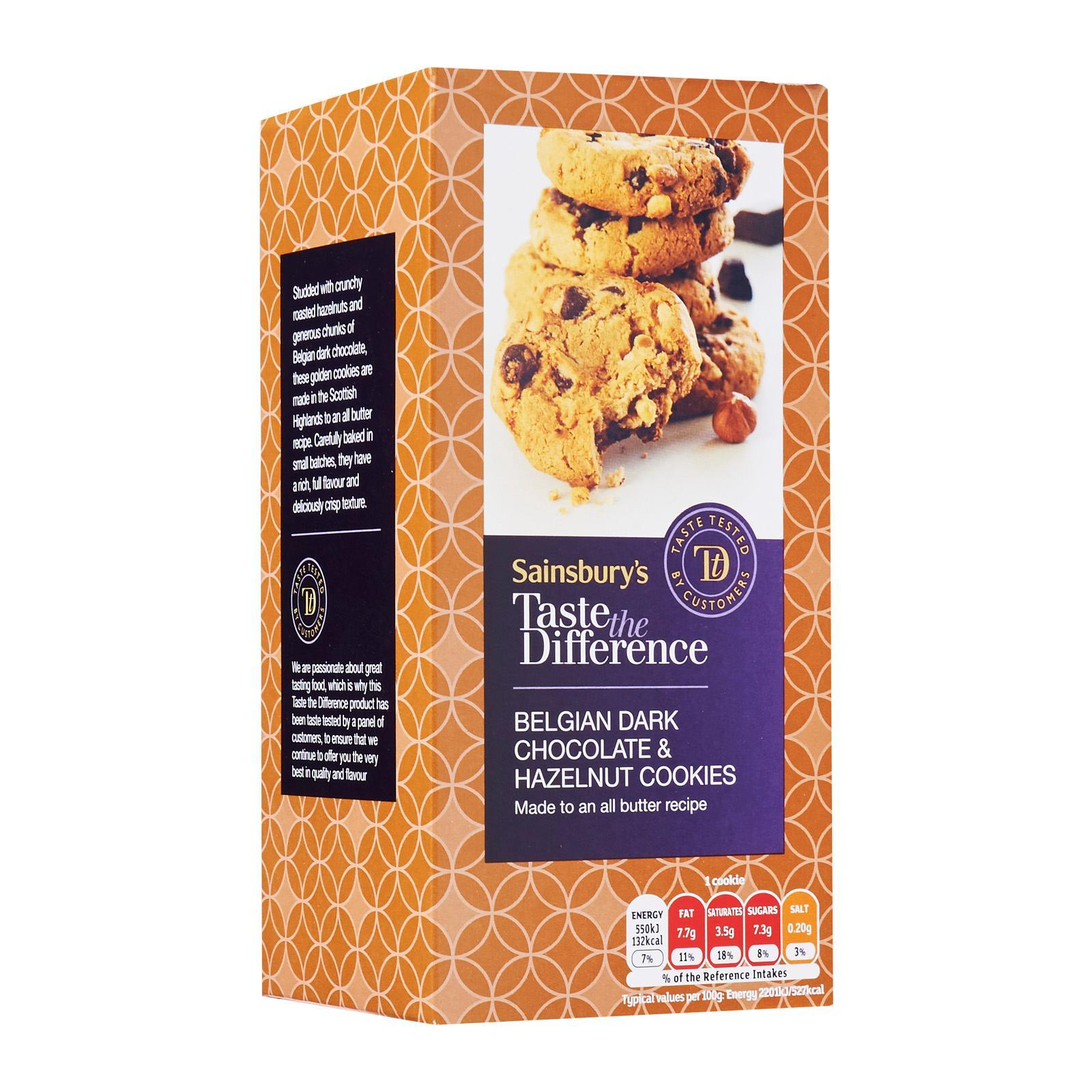 Sainsbury's Taste The Difference Chocolate Chunk And Hazelnut Cookies