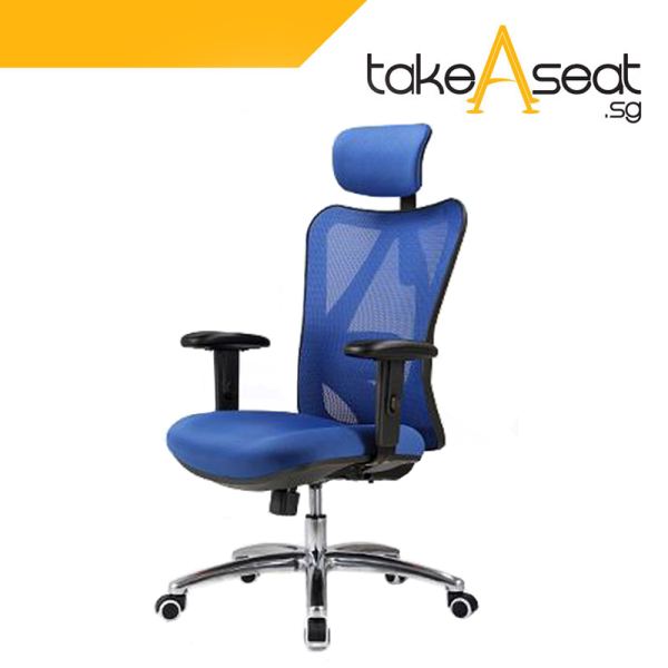 M20 Office Chair (Self Setup) ★ Executive Office Chair ★ Mesh Chair ★ Adjustable Lumbar Support ★ Home/Office Use Singapore
