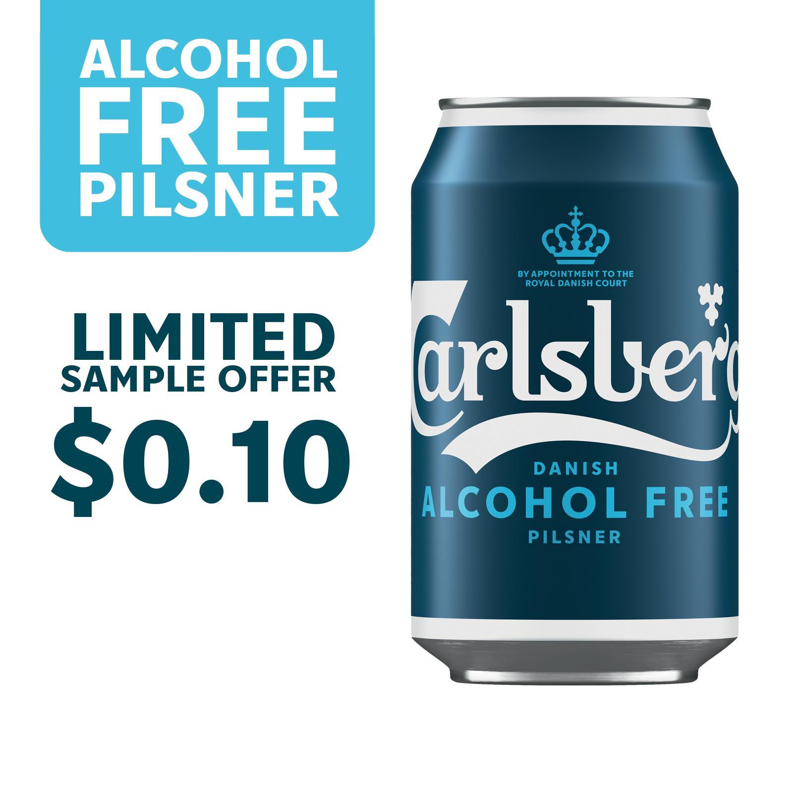 Carlsberg Alcohol-Free Pilsner Beer Can 330ml [Sample 1 per customer]