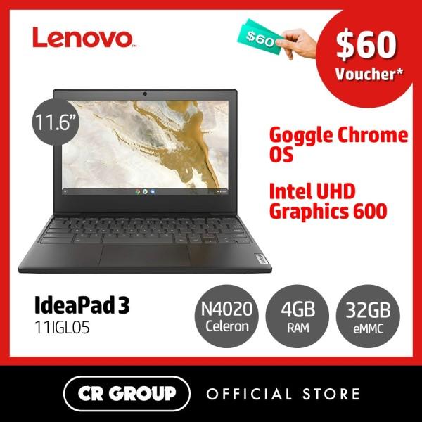 [Same Day Delivery] Lenovo IdeaPad 3 11IGL05 11.6 Inch HD | Intel Celeron N4020 | 4GB RAM | 32GB eMMC Storage | Intel UHD Graphics 600