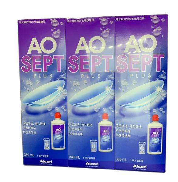 Buy 3 x  AOSEPT PLUS 360ml Singapore