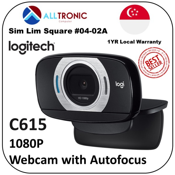 Logitech C615 Portable HD 1080p video calling with autofocus/ 2yrs Local Warranty
