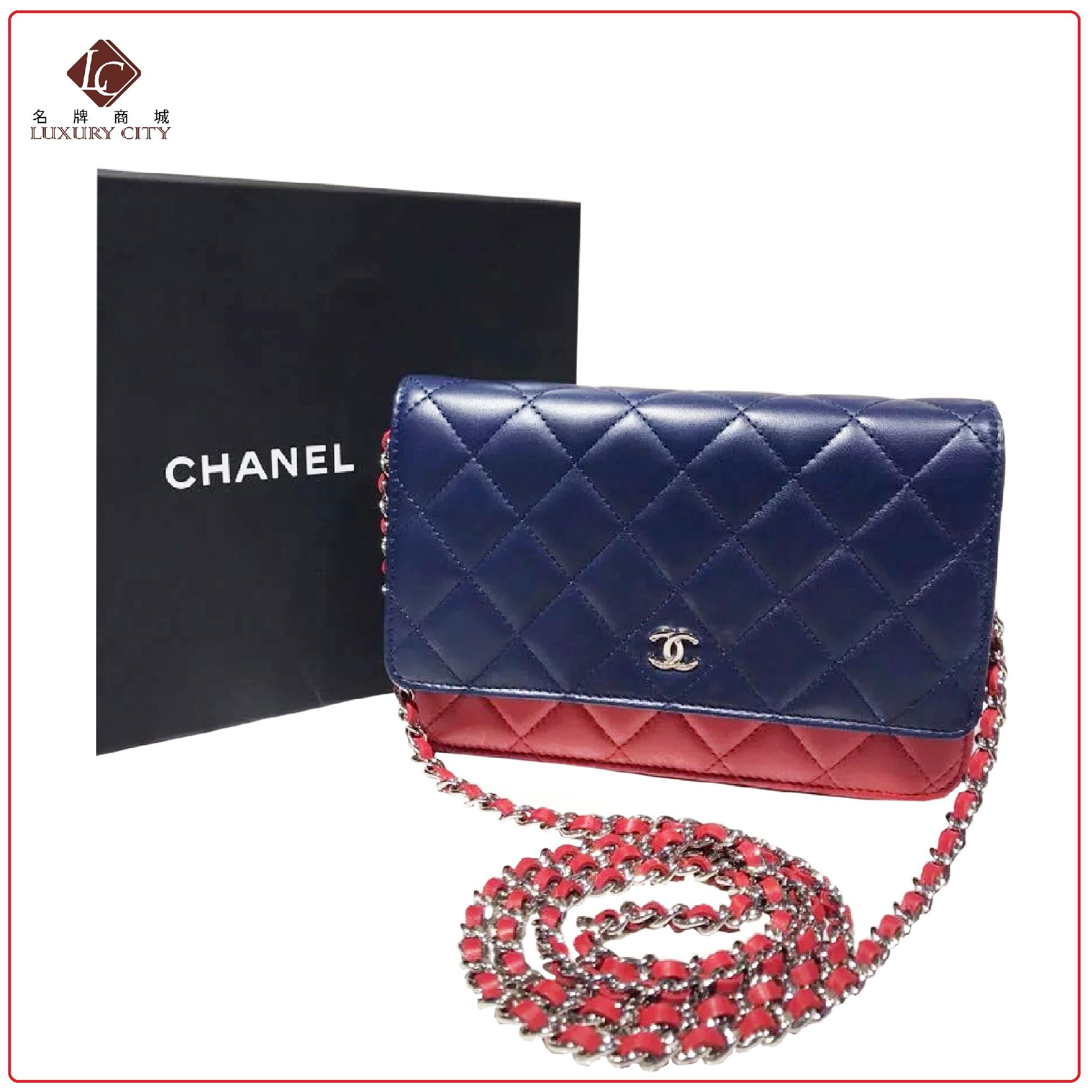 5eb6e9804121 PRELOVED AUTHENTIC CHANEL CLASSIC CC WALLET ON CHAIN A33814 (UNUSED)