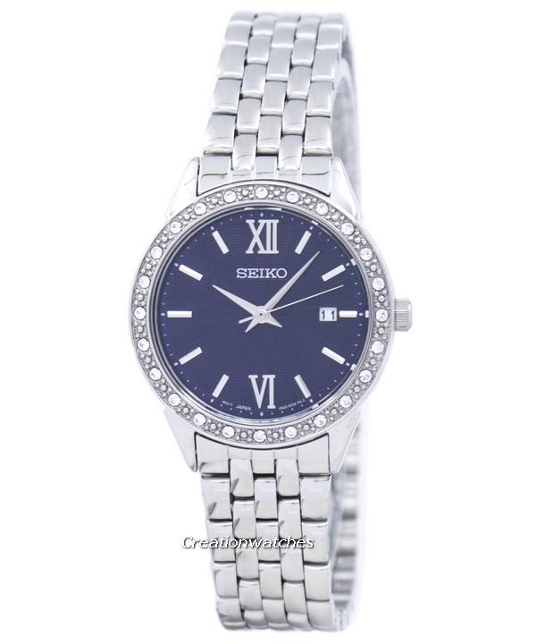 Seiko Quartz Diamond Accent Womens Silver Tone Stainless Steel Bracelet Watch Sur691p1 By Creationwatches.
