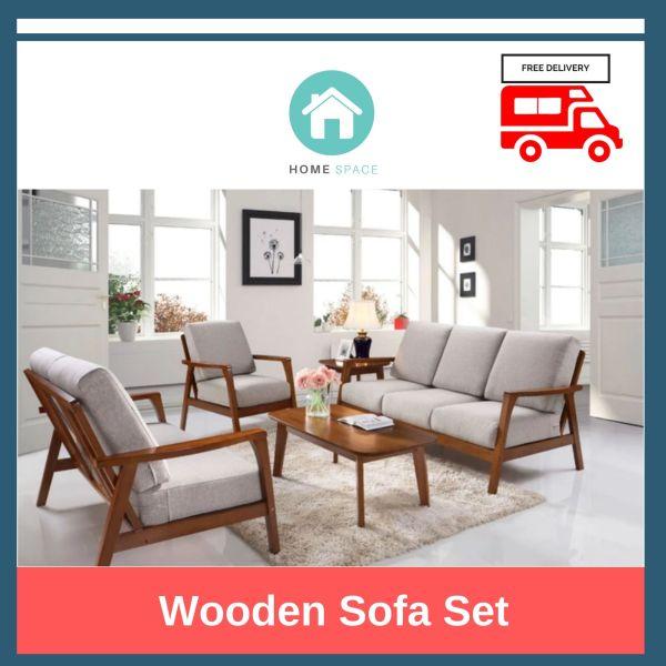 Wooden Sofa Set (2 + 1 Seater)