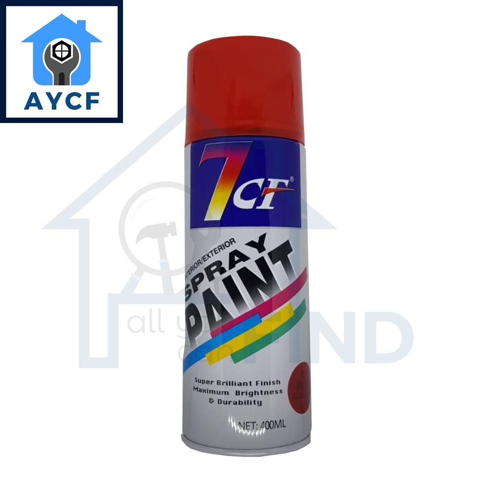(BUNDLE OF 12) 7CF Interior / Exterior Spray Paint 400ml - Scarlet