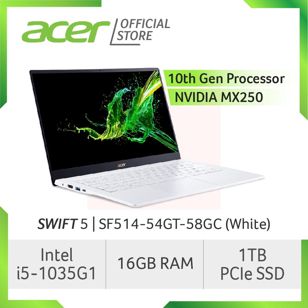 Acer Swift 5 SF514-54GT-58GC(White) NEW Thin and light laptop with LATEST 10 Gen Intel i5-1035G1