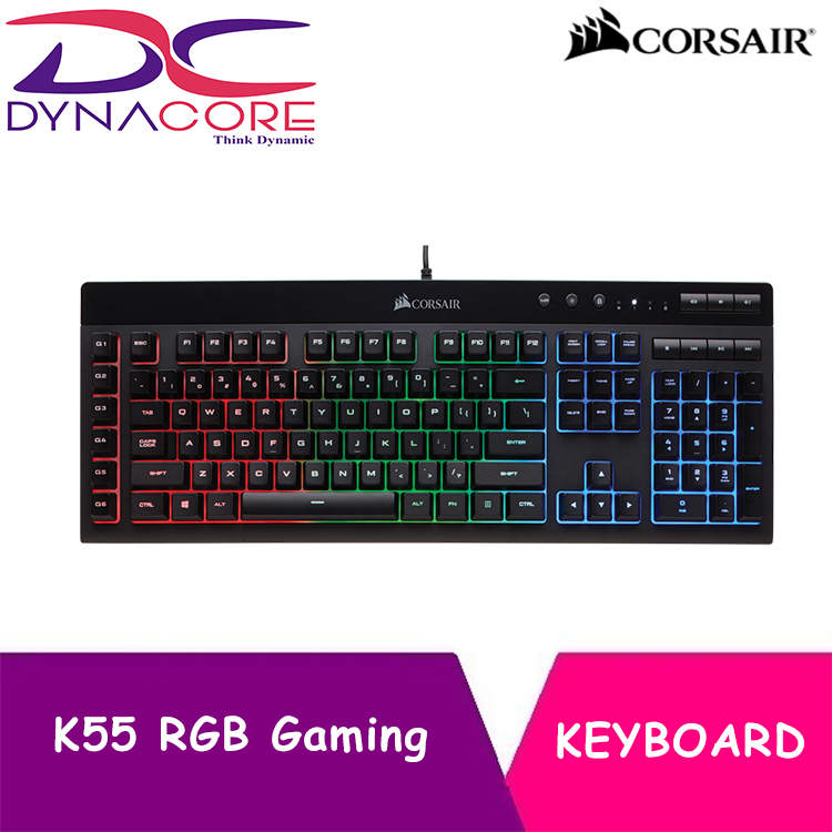 DYNACORE - CORSAIR K55 RGB Gaming Keyboard Singapore