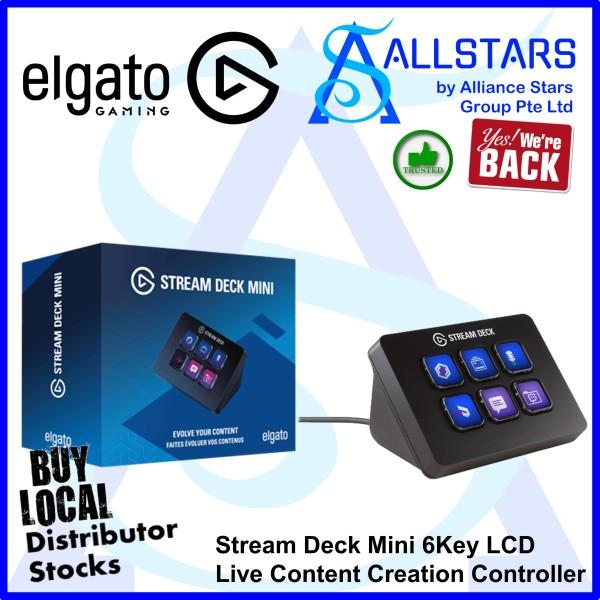 (ALLSTARS : We Are Back Promo) Elgato Stream Deck Mini 6Key LCD Live Content Creation Controller (CS-10GAI9901) (Local Warranty with Convergent)