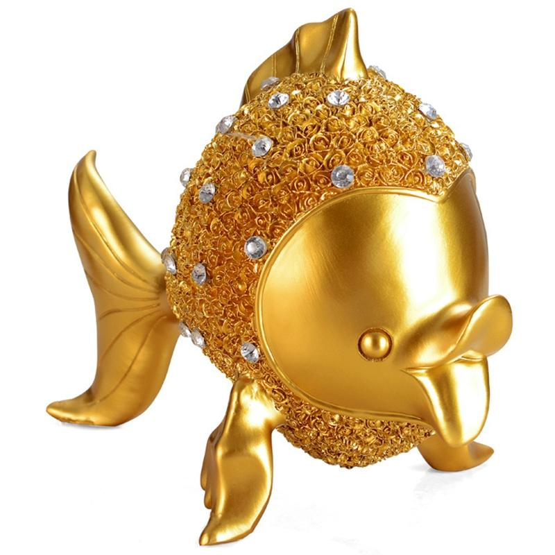 European Resin Fish Ornaments Goldfish Miniatures Home Decor Kiss Fish Figurines Wedding Gifts Desktop Crafts Furnishing