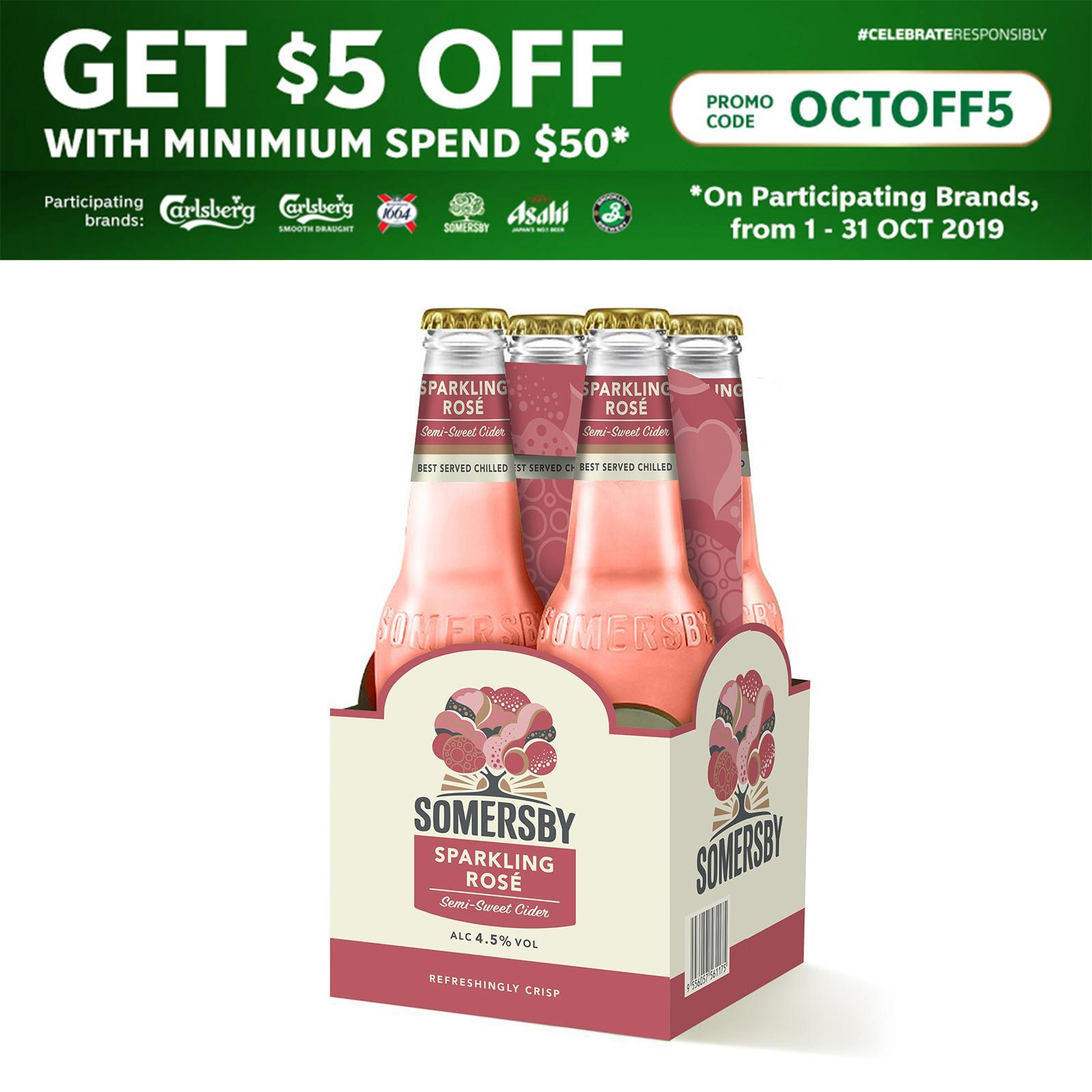 Somersby Rose Cider 4 X 330Ml