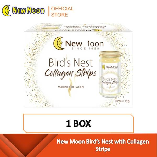 Buy New Moon Birds Nest with Collagen Strips - 6 bottles x 150ml [Best Seller] Singapore
