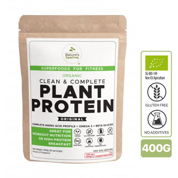Buy Natures Superfoods Organic Plant Protein (Original) 400g Singapore