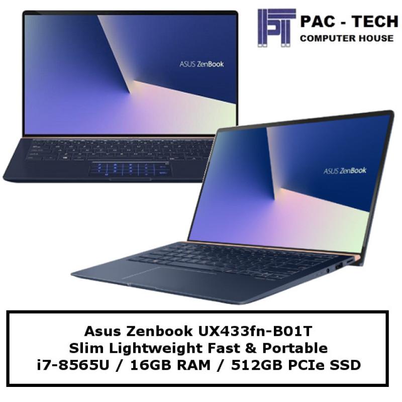 Asus Zenbook 14 UX433FN-B01T / i7-8565U / 16GB RAM / 512GB SSD / MX150 (2GB) / 2 Years Warranty