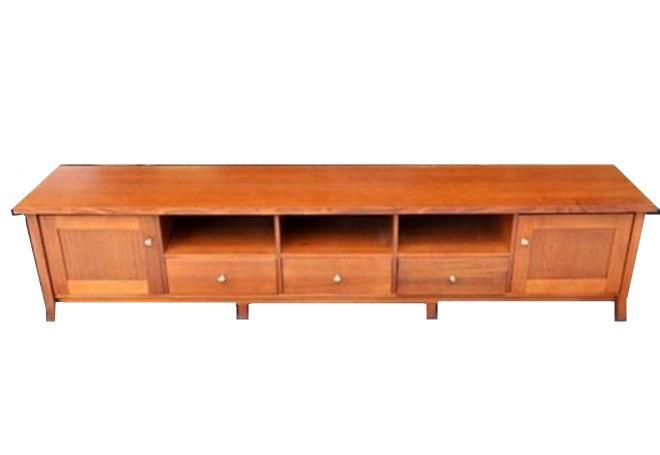 Red Saga Seeds - Australian Hardwood Console ( Pre-owned Refurbished Furniture)