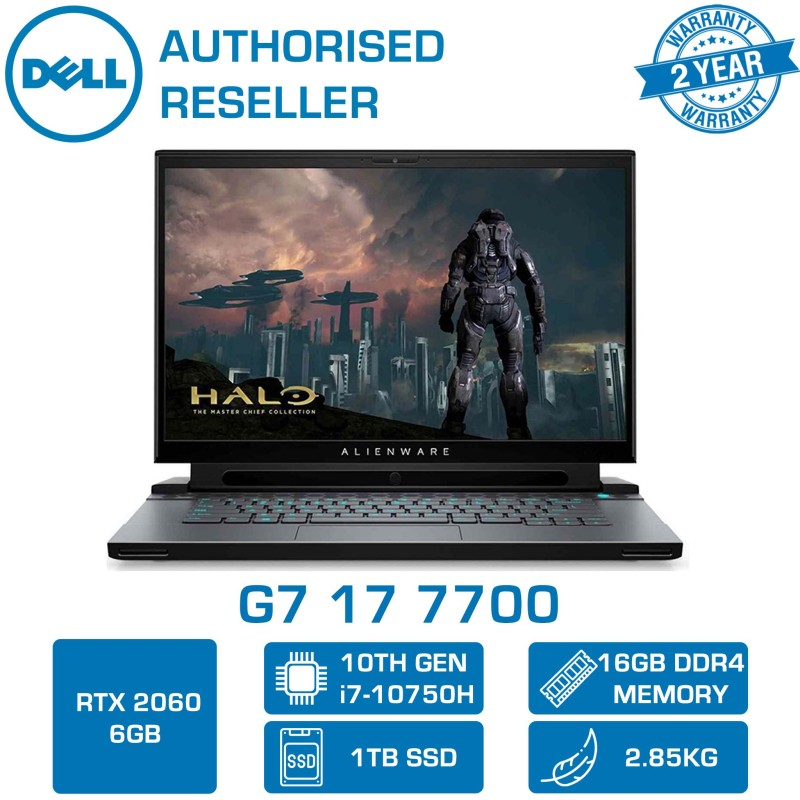 【DELIVERY IN 24 HOURS】 DELL G7 17 7700 GAMING LAPTOP | 17.3inch | i7-10750H | 16GB RAM | 1TB SSD | RTX 2060 6GB GDDR6 | WIN 10 HOME | 7700-107116GL