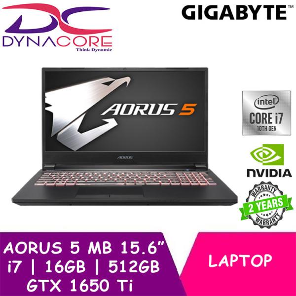 DYNACORE - GIGABYTE AORUS 5 MB 15.6 144Hz FHD IPS Panel/i7-10750H/GTX 1650 Ti GDDR6 4GB/16GB DDR4 2666MHz (8GB*2)/512GB M.2 PCIe SSD/WIN 10 HOME w/BAG+MOUSE