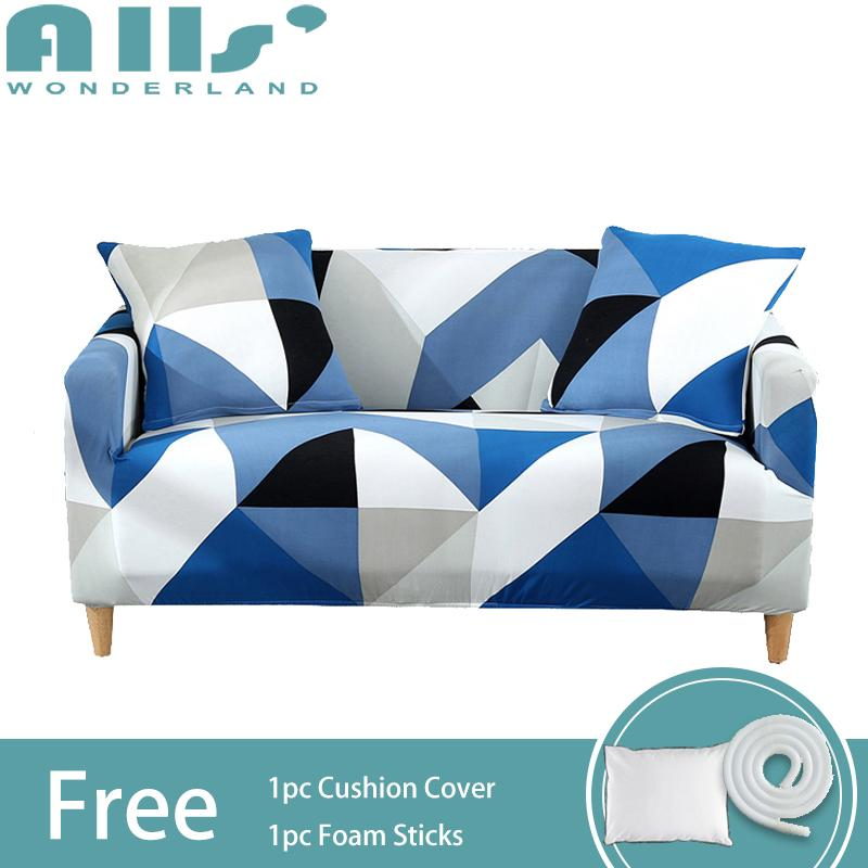 【Slipcover】1/2/3/4-seater Super Elastic Sofa Cover Spandex Protector Slipcovers Skin-friendly Easy To Install(AGFX)