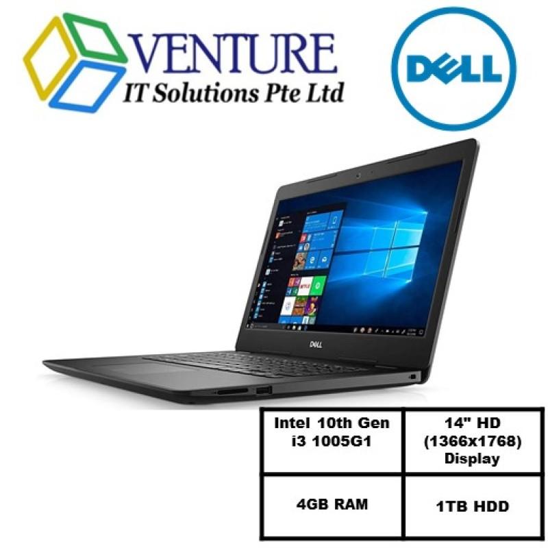 Laptop Dell Inspiron 3493 (READY STOCK)-i3 1005G1/14.0-inch HD (1366 x 768)/4GB RAM/1TB 5400 rpm 2.5 SATA Hard Drive/Win10/
