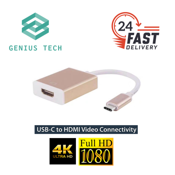 USB-C to HDMI Adapter 4K/FULL HD MacBook Pro/Samsung Galaxy/Dell/Chromebook Pixel and More