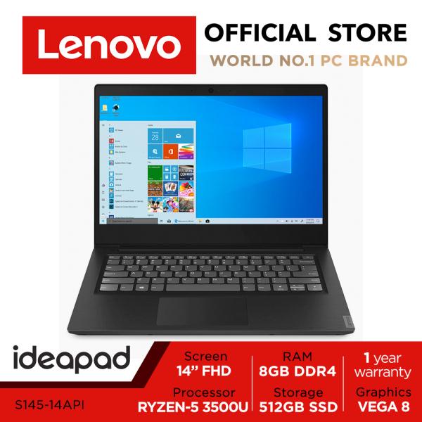 Lenovo ideapad S145 | 14inch FHD | Ryzen5 3500U | 8GB RAM | 512GB SSD | Win10 Home| 1Y warranty