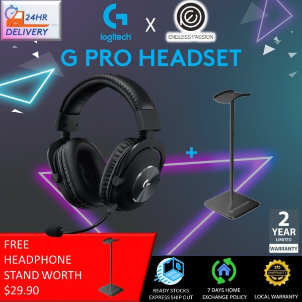 Logitech G PRO Gaming Headset (2nd Gen) [Free Headphone Stand + 24 hours delivery]