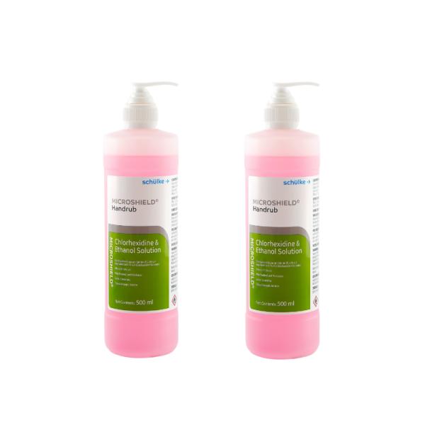 Buy [Bundle of 2] Schulke Microshield Pink Hand rub 500ml Hospital Grade Sanitizer Exp. Apr 2022 [Aurigamart Authorized Distributor] Singapore