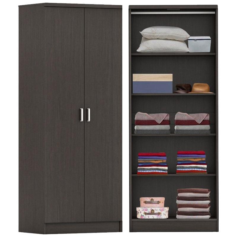 Raymo 2-Door Wardrobe (With Shelves)