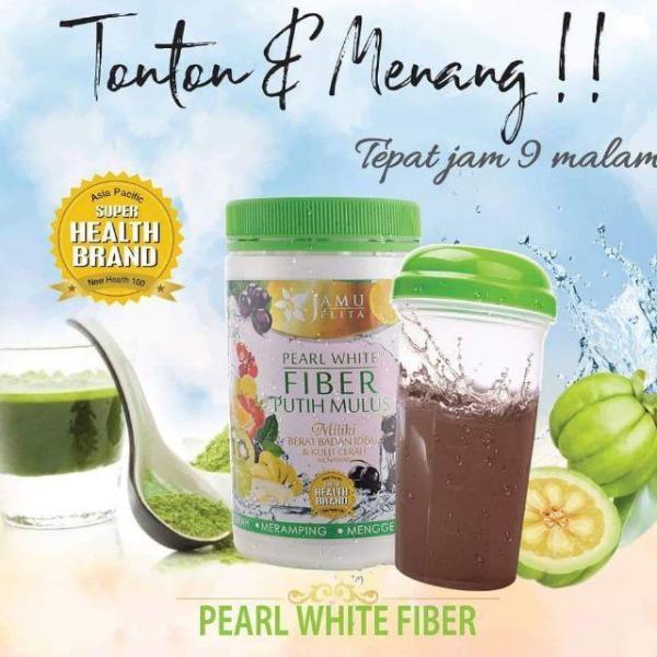 Buy Jamu Jelita Pearl White Fiber Putih Mulus Slimming Collagen With Garcinia Cambogia, Acai (Lose Weight & Detox) (400g) (FREE SHAKER BOTTLE!) Singapore