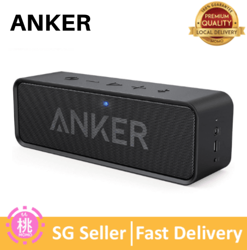 Anker SoundCore 24-Hour Playtime Bluetooth Speaker with 10W Limited Output, Stereo Sound, Rich Bass, 66 ft Bluetooth Range, Built-in Mic. Portable Wireless Speaker Singapore