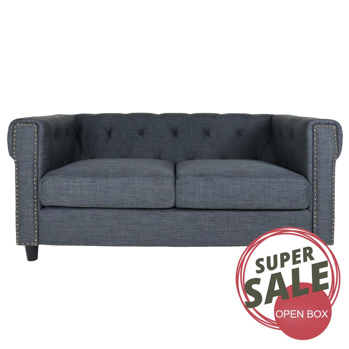 2 Seater Luxury Fabric Sofa. Open Box Sale by H&S