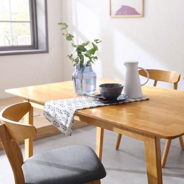LINSY Wood, Nordic Style Dining Table & Chair, Solid Wood Dining Table LinShiMuYe (林氏木业)