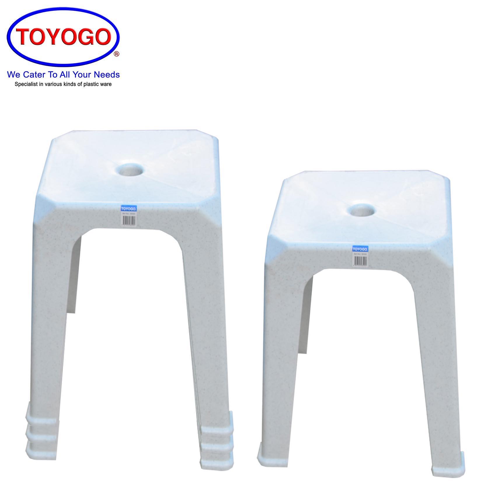Toyogo Adult Comfort Plastic Dining Stool (Bundle of 4) (8599)